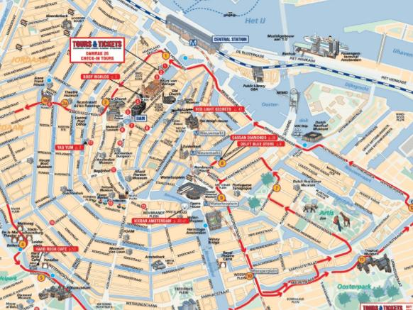 utiliza mapa turistico de amsterdam